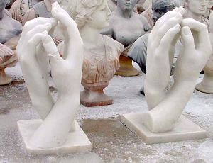 Carved Marble Abstract Hands Sculpture (sk-2422) pictures & photos
