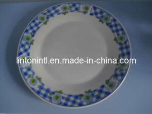 "Porcelain 10.5"" Flat Plate - 1"