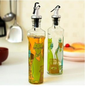 Decal Glass Bottle for Oil and Vinegar Packaging