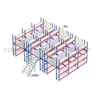 Warehouse Multi-Layer Metal Platform Storage Mezzanine Racks pictures & photos