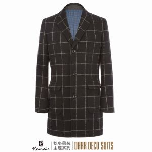 OEM 2017 Winter Men′s Woolen Overcoat pictures & photos