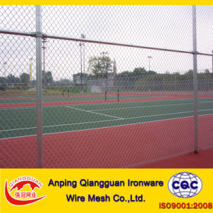 Galvanized+PVC Coated Chainlink Fence, Chainlink Wire Mesh (ISO9001: 2008)