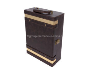 Europe Style Gift Package Classical Portable Leather Wine Box (FG8012) pictures & photos