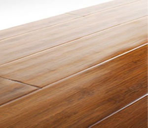 Handscraped Horizontal Bamboo Flooring Gold Teak pictures & photos