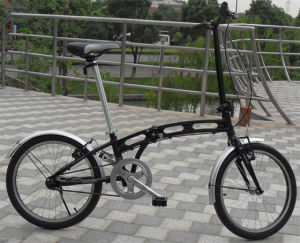 Comfortable Black Color City Folding Bike Folded Bicycle Foldable Scooter Shimano 6s Derailleur pictures & photos