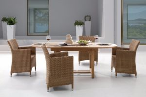 Rattan Outdoor Patio Wicker Auckland / Four Seasons Dining Set Garden Furniture (J375HR) pictures & photos