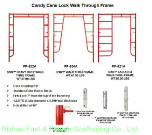 5′*6′7′′w-Style Heavy Duty Walk Thru Frames (FF-632A) pictures & photos