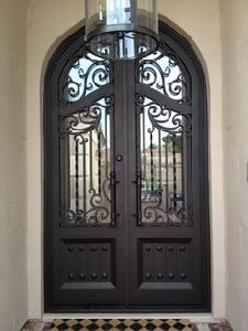 Modern Wrought Iron Glass Interior Door