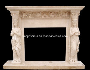 Stone Carving Mantel Fireplace (XF397) pictures & photos
