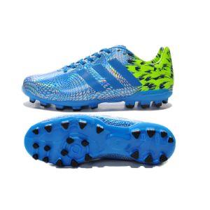 Wholesale Adi High-End Athlete Football Shoe Men Multiple Sport Blue Shoe pictures & photos