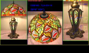 Tiffany Table Lamp With Lighting Glass Base And Metal Base (TLS034-16) pictures & photos