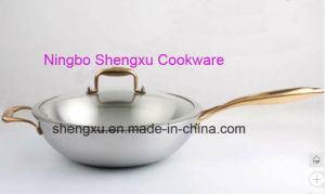 18/10 Stainless Steel Cookware Chinese Wok Cooking (SX-WO32-21) pictures & photos