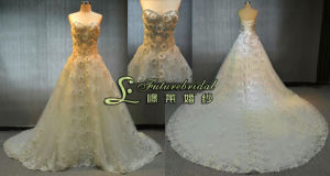 2014 Tulle Sweetheart Plus Size Wedding Dress with Lace Decoration (3230)