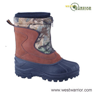Velours Split Leather Military Snow Boots (WSB014) pictures & photos