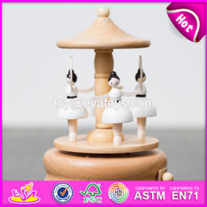 Handmade Best Girls Toys Wooden Dancing Music Box W07b056 pictures & photos