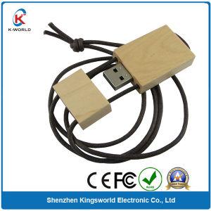Bamboo/Wood USB Flash Drive with Lanyard (KW-0234)