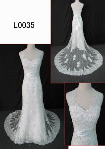 Beaded Halter Lace Bridal Dress (L0035) Guangzhou Angel Bridal Gown pictures & photos
