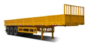 Kingstar 3 Axles Semi-Trailer with Sidewall (18cbm) , Cargo Trailer pictures & photos