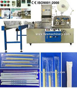 High Speed Single Straw Packing Machine by Paper/ Plastic Film pictures & photos
