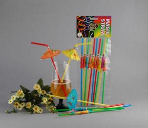 Colorful SGS FDA Umbrella Decorative Flexible Straws pictures & photos