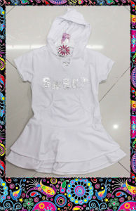 Girl′s Long-Designed T-Shirt