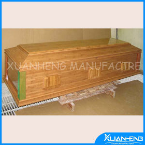 Bamboo Funeral Casket Funeral Bier with Carving pictures & photos