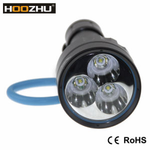 Hoozhu D30 Diving Light Max 3000lm Waterproof 120m 2* 32650 Battery+Charger pictures & photos