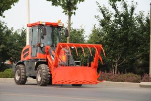 ER10 Multi-Function Mini Wheel Loader With Grapple Forks (CE) pictures & photos