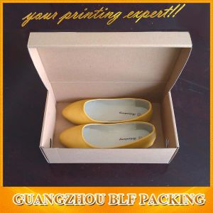Printed Black Corrugated Paper Folding Custom Printed Shoe Boxes pictures & photos