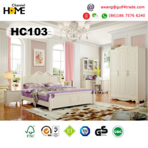 Home Furniture Korean Style Wooden Bedroom Furniture (A103) pictures & photos