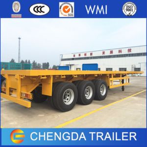 3axles 40FT 20feet Flatbed Bed Container Trailer for Sale pictures & photos