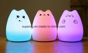 Silicone Cat Night Lights Children LED Night Lamp pictures & photos