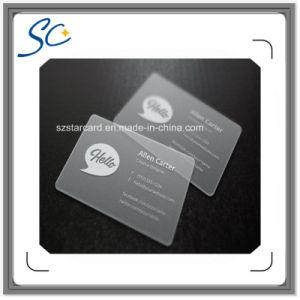 Transparent PVC Card with Qr Code pictures & photos