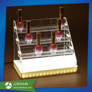 Custom Design LED Lighted Acrylic Makeup/Cosmetic Perfume Display pictures & photos