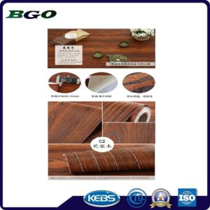 Mahogany Wood Grain Coffin Decorative Foil pictures & photos
