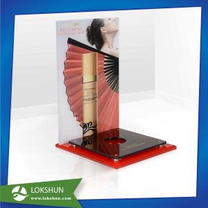 L Stand Acrylic Countertop Display for Skincare Products, Professional Acrylic Cosmetic Display Stand Factory China pictures & photos