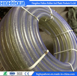 PVC Water Suction Hose with Spiral Steel Wire Reinforced pictures & photos