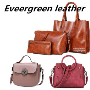 3PCS in 1 Set Low Price Tote Lady Handbag High Quality PU Leather Women Shoulder Bags Sy8573 pictures & photos