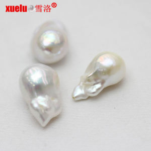 15-16mm AAA High Quality White Baroque Nucleated Loose Pearls Wholesale pictures & photos