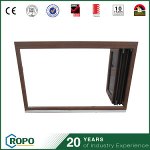 PVC Window Profile Wood Grain Color Folding Window pictures & photos