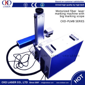 Motorized Portable Fiber Laser Marking Machine for Metal pictures & photos