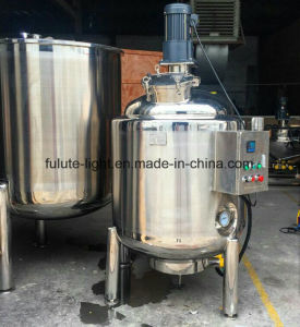 1500 Liter Double Jacketed Stainless Steel Agitated Tank pictures & photos