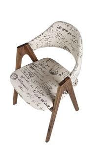 Fabric Upholstery Wooden Restaurant Chair (FD-004)