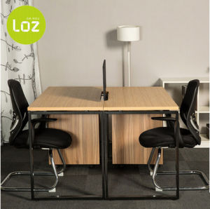 Office Furniture Stylish Wooden Computer Table for 2 People pictures & photos