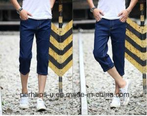 Fashion Pure Color Slim Fit Denim Short Mens Jeans Pants pictures & photos