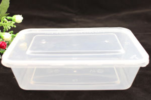 Microwavable PP Rectangular Plastic Food Storage Container with Lid pictures & photos