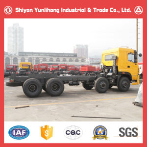 8X4 Flat Roof Cabin Truck Chassis/Mining Truck Chassis pictures & photos