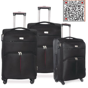 Soft Nylon Inside Trolley Travel Luggage with 4 Wheels pictures & photos