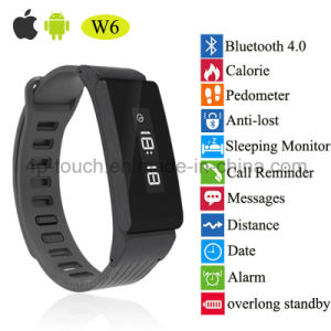 Anti-Lost Bluetooth Smart Bracelet with OLED Display (W6) pictures & photos