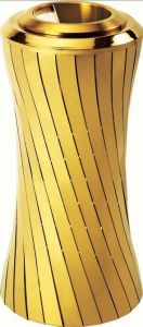Classic Golden Metal Ground Ash Barrel for Star Hotel (GPX-209E) pictures & photos